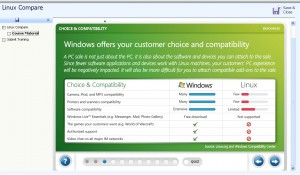 Comparatif Windows 7 / Linux - Présentation Microsoft