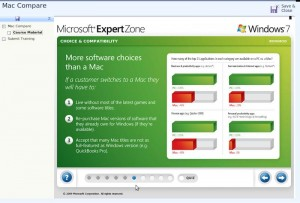 Comparatif Windows 7 / Mac - Présentation Microsoft